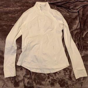 White Lululemon Zip up